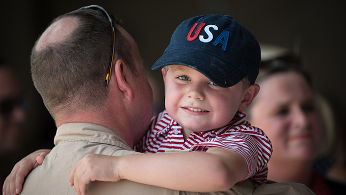 Kentucky Air National Guard members return from deployment on July 4th